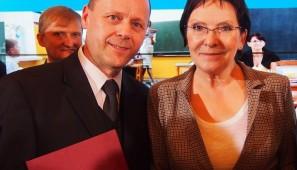 Ignacy Ołów z premier Ewą Kopacz w październiku 2014 r.