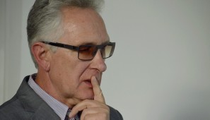 Na zdj. prof. Andrzej Chwalba w Suwałkach.